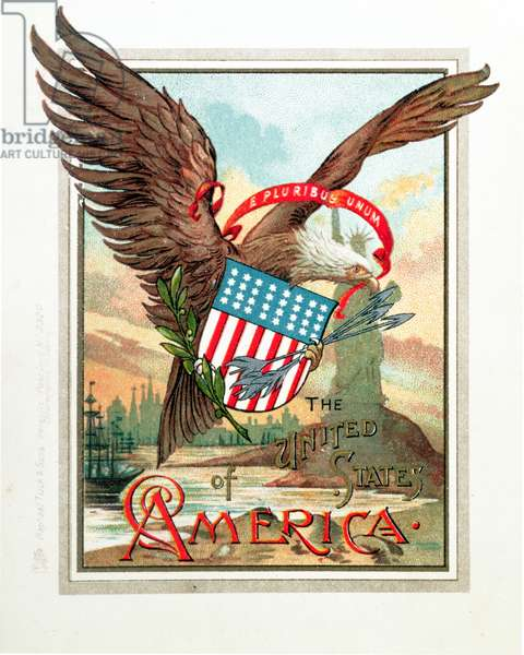 'United States of America' Postcard (colour litho)