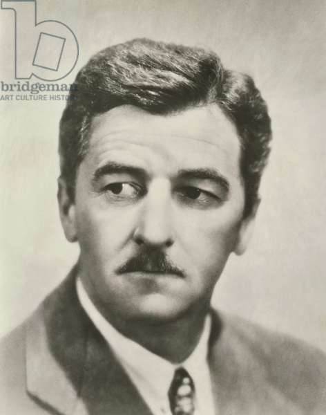 William Faulkner (1897-1962) (b/w photo)
