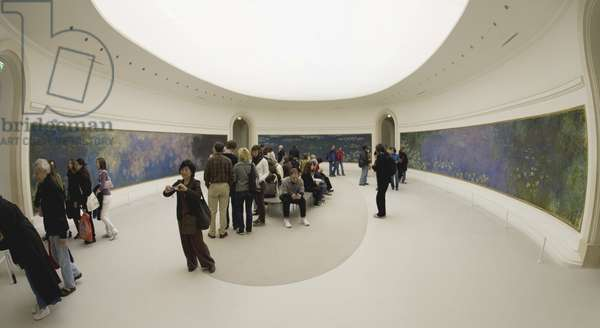 Tourists and visitors admire the Nympheas paintings (photo)