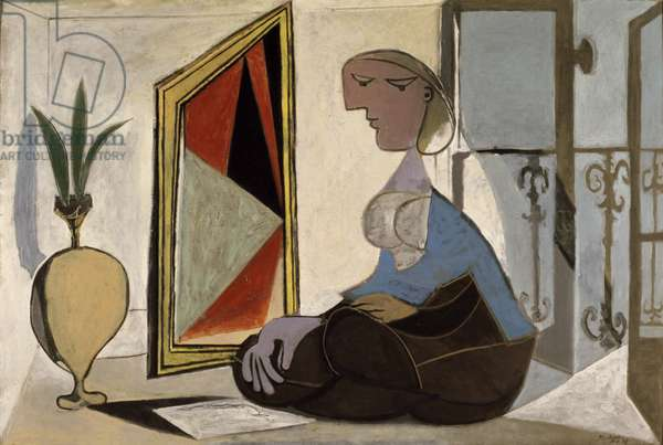 Woman with a Mirror, 1937 (oil on canvas)