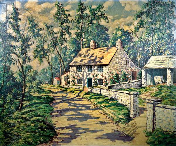 Summer Day Carol Sirak (1906-1976 American) Oil on canvas David David Gallery, Philadelphia, Pennsylvania, USA