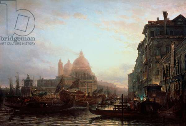 Venice at Night 1856 Alexey Petrovich Bogolubov (1824-1896 Russian) Tula Regional Art Museum, Russia