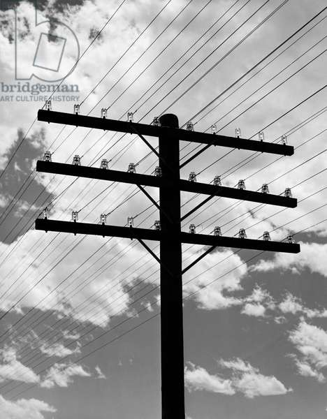 Low angle view of power lines