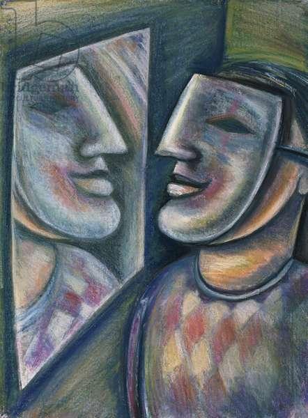 Mirror Image 1997 Lucile Montague (b.1950/British) Pastel