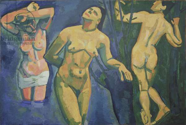 Les Baigneuses, 1907 (oil on canvas)
