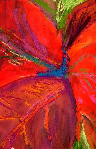 Cinder Red December 2004 Cynthia Hayward (b.20th C American) Watercolor & pastel