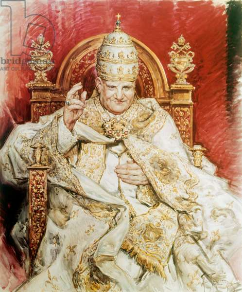 Pope John XXIII (oil on canvas)