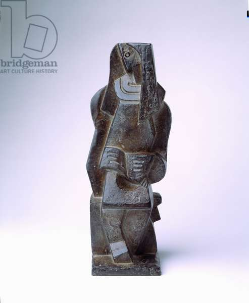 The Reader, Metal Sculpture by Jacques Lipchitz (1891-1973)