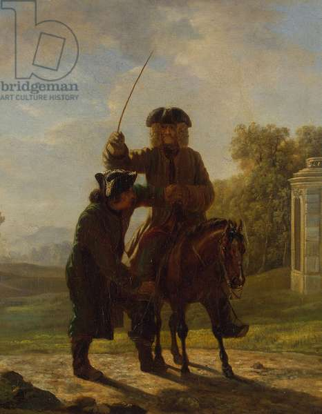 Voltaire riding a horse, c.1750-76 (oil on canvas)