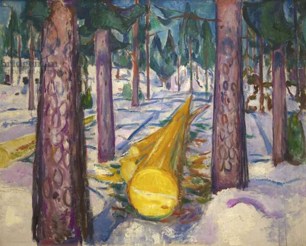 Yellow Log, 1912 (oil on canvas)