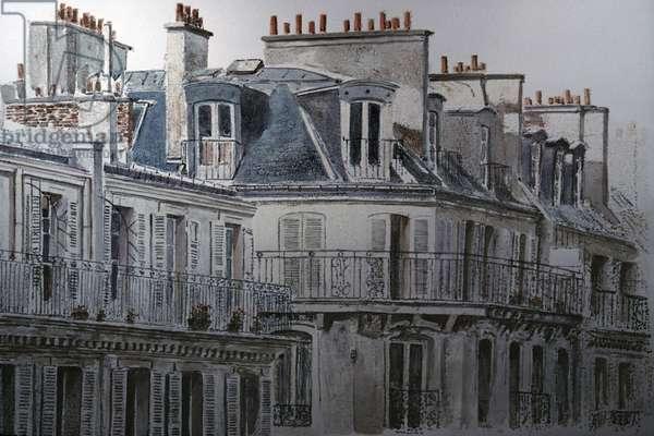 Rue du Rivoli, Paris, France, 1990, Anthony Butera, (b.20th C.), Monotype