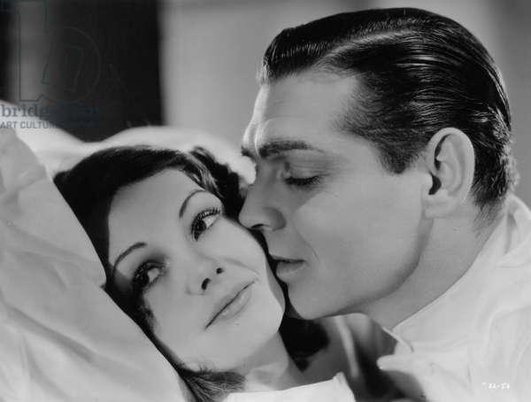 Clark Gable and Elizabeth Allan in 'Men in White', 1934 (b/w photo)