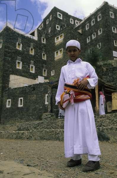 Local Boy, near Abha, Wadi Al Aws, Saudi Arabia (photo)