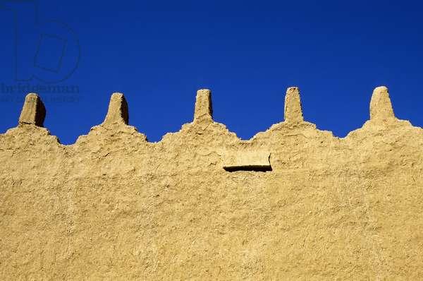 Walls of the Palace of Sa'D Bin Saud, Dir'Aiyah Village, Saudi Arabia (photo)