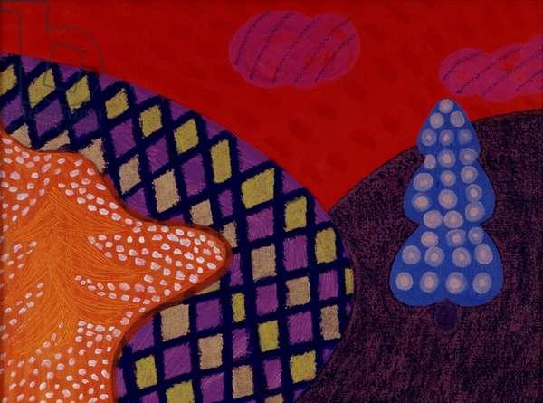 Santa Fe 1995 Catherine Hazard (b.1954 American) Oil on canvas