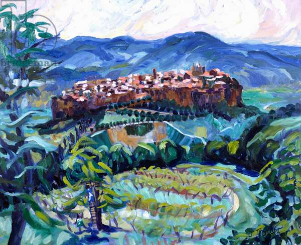 San Gimignano, Tuscany by Josephine Trotter, born in 1940
