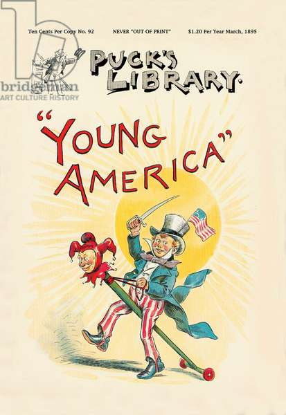 """Puck's Library: """"""""Young America"""""""", Uncle Sam"""