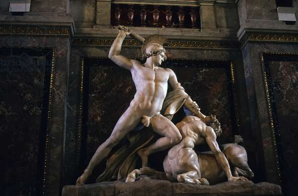 Theseus and the Centaur, 1805 (marble)