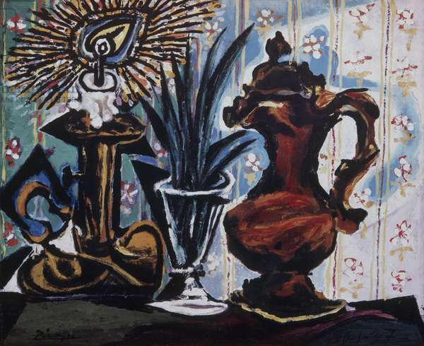 Still Life with Candle, 1937 (oil on canvas)