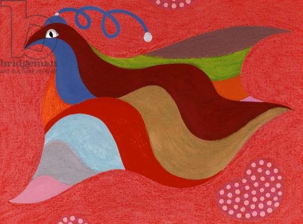 Happy Bird Catherine Hazard (b.1954 American) Oil on canvas