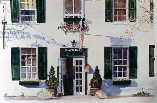 Black Bass Inn, 15x20, Anthony Butera, (b.20th C.), Watercolor