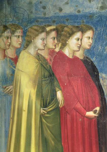 The Virgin's Wedding Procession, c.1305 (fresco) (detail of 65205)
