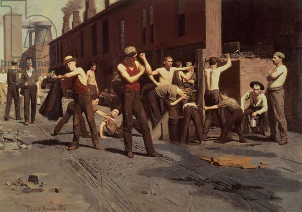 Iron Workers at Noontime, 1882 (oil on canvas)
