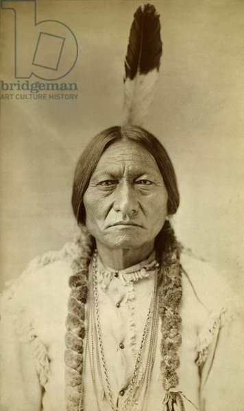 Sitting Bull, Sioux Chief, c.1885 (b/w photo)