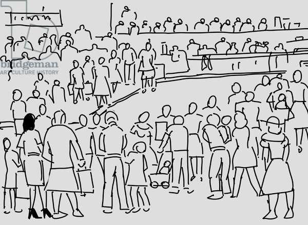 Check in time crowd, 2007 (computer graphics)