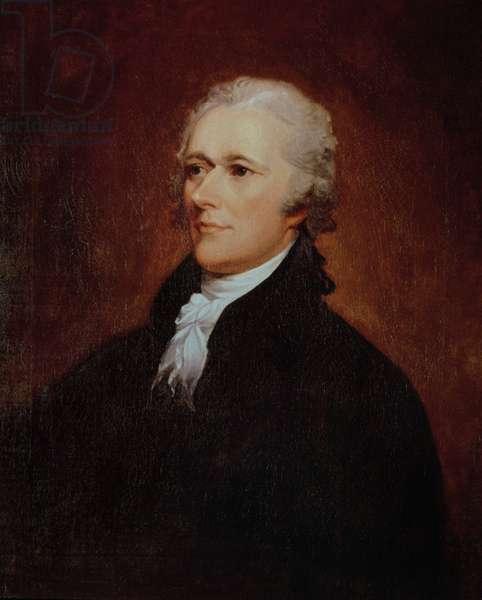 Portrait of Alexander Hamilton (1757-1804) (oil on canvas)