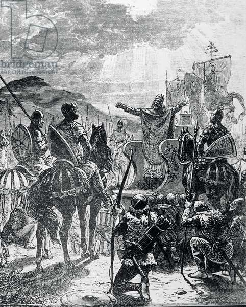 The War Against Heresy - Pope Innocent III Proclaims the Albigensian Crusade in 1208 (engraving)