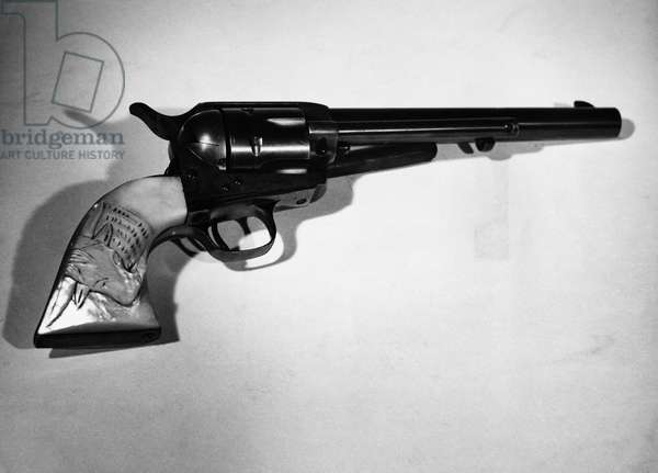 Close-up of a revolver