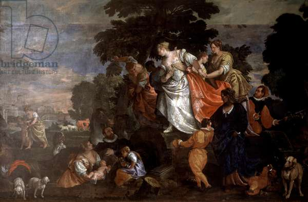 Moses Saved From The Waters Paolo Veronese (1528-1588 Italian) Oil On Canvas