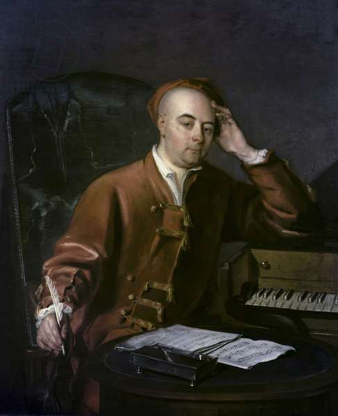 The Composer Handel (oil on canvas)