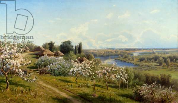 Ukraine, Malorossia, Apple Trees In Bloom, by Nikolai Alexandrovich Sergeev, Russia, Tomsk Regional Arts Museum, 1855-1919