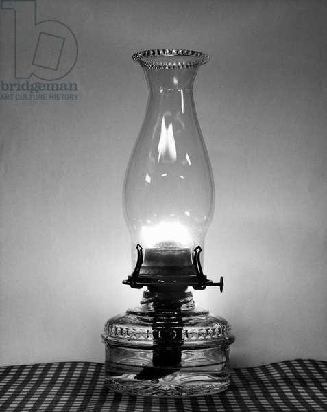 Close-up of a hurricane lamp