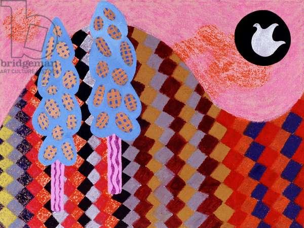Happy Day 1996 Catherine Hazard (b.1954 American) Oil on canvas