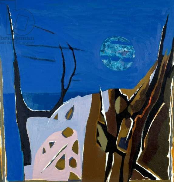 Highlands House by Hamish MacEwan, gouache on canvas, 1994