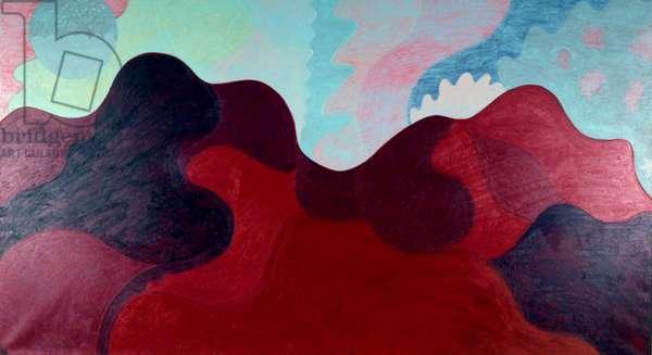 Woodstock Mountains 1996 Catherine Hazard (b.1954 American) Oil on canvas