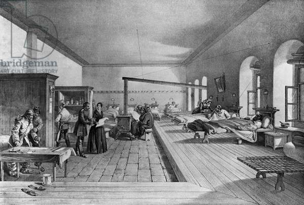 Florence Nightingale in One of the Wards of the Barrack Hospital at Scutari Artist Unknown