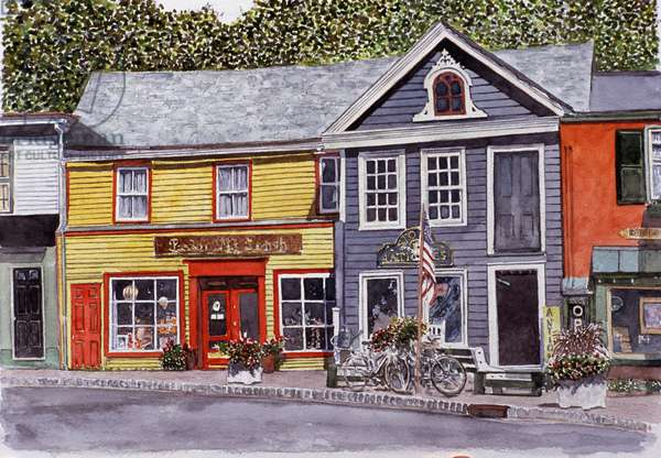 Frenchtown, New Jersey 2006 Anthony Butera (b.20th C.) Watercolor