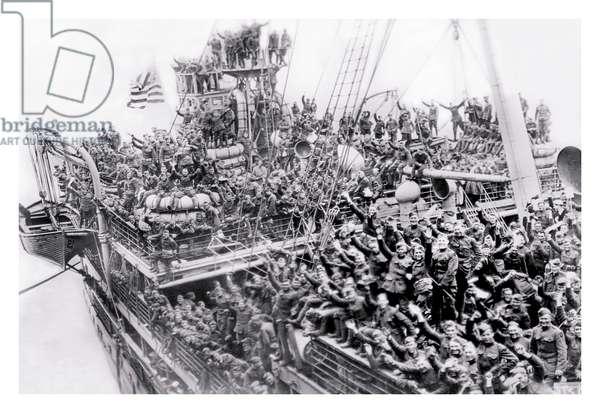 World War One Troop Ship, World War I