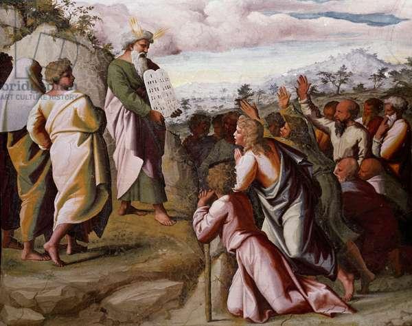 Moses Presenting the Ten Commandments (fresco)