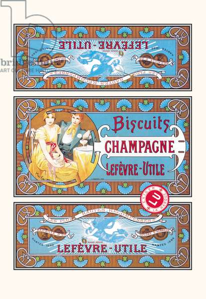 Biscuits Champagne (colour litho)