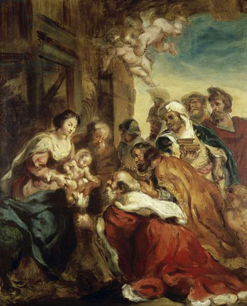 Adoration of the Kings, after Rubens, 1830 (oil on canvas)