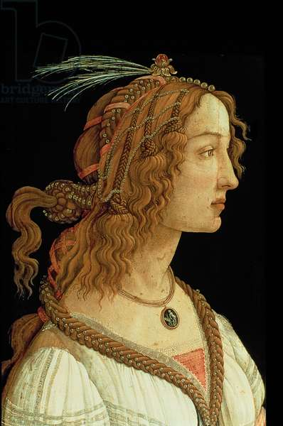 Portrait of a Young Woman, 1485 (tempera on panel)