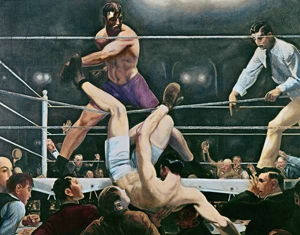 Dempsey v. Firpo in New York City, 1923, 1924 (oil on canvas)