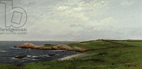 New England Coast (oil on canvas)