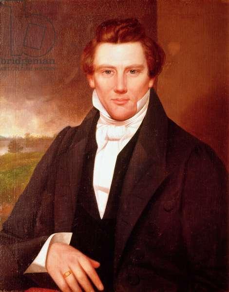 Portrait of Joseph Smith (oil on canvas)