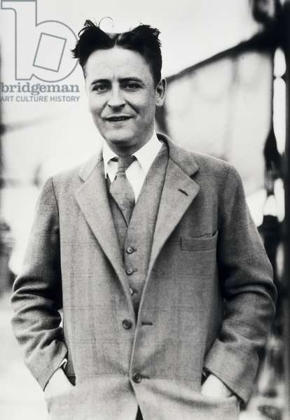 F. Scott Fitzgerald (1896-1940) (b/w photo)